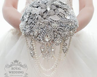 Brooch Bouquet Wedding Bouquet Bridal Bouquet Bridesmaids Bouquet Rich Bouquet Keepsake Bouquet Wedding Jewelry Bouquet Crystal Bouquet