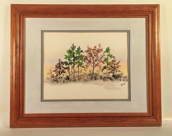 Trees in the Fall - Original Watercolor Painting