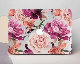Flowers Macbook Air  Case Floral Macbook  Cover Case Macbook Pro   Mac Pro