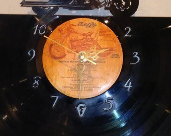 Police Bike Vinyl Record Clock