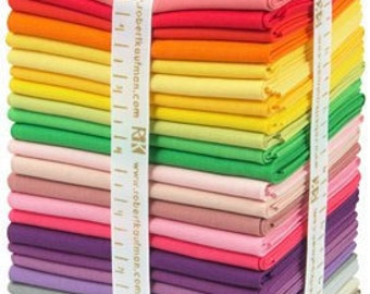 25 Pcs Fat Quarter Bundle KONA Cotton Solids Designer Palette by Rita Hodge - Robert Kaufman