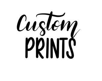 Custom teeshirt prints