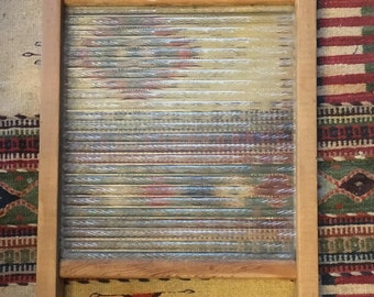 Large Antique Top Notch Glass King Washboard # 865