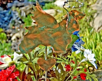 Cocker Spaniel Pet Memorial Metal Garden Art Stake, Copper Memorial Dog Grave Marker, Outdoor Metal Sculpture, Copper Dog Garden Yard Stake