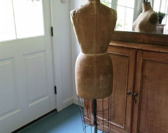 Antique Dress Form Dressmaker Dummy Industrial Mannequin Superior Model