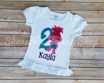 Trolls Birthday Shirt, Poppy Birthday Shirt