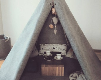 teepee-solid-gray-wool-kids Teepee-teepee tent-tipi enfant-play tent-teepee tent-tent-teepee kids-childrens teepee-tent-teepees-kids teepee