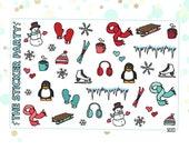 Winter Deco Planner Stickers