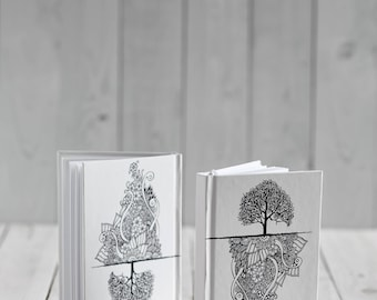 Blank two-sided notebook Jete's tree