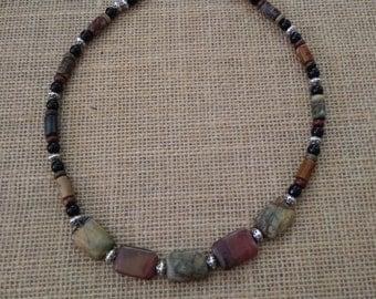 Red creek Jasper necklace