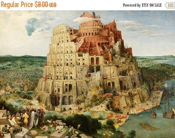 The Tower of Babel Cross Stitch Pattern Pdf Bruegel pattern meedlepoint - 496 x 363 stitches - INSTANT Download - B671