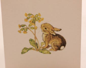 Set of 6 Super Cute Molly Brett Vintage Miniature Blank Note Cards from England.