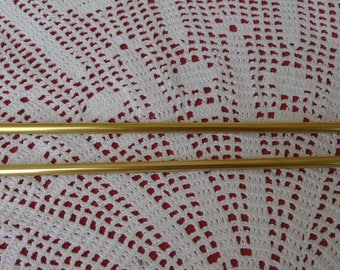 "A pair of very large French vintage brass extendible ""cafe curtain"" rods.  In excellent condition. P.104"