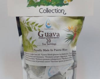 Guava Leaf Tea (Psidium guajava) 20 Servings