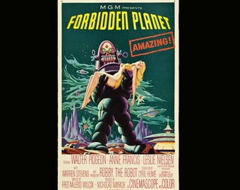 Forbidden Planet Movie Poster Many Sizes Available