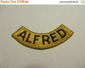 Summer Sale Vintage WW2 Alfred Tab Patch