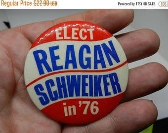 Summer Sale Vintage Ronald Reagan for Govoner 1976 Button