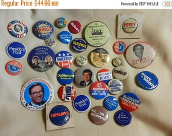 Easter Sale 33 Vintage Political Campaign Buttons