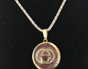 Gucci lovely womens gold link watch necklace @ chain new battery wks great 224.99