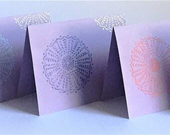 Lavender Marigold Greeting Cards - Set of 5