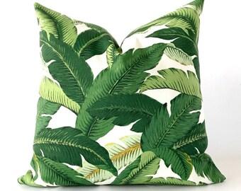 20x20 Banana leaf pillow cover, palm leaf pillow, swaying palm pillow cover, outdoor pillow cover, tropical throw pillow