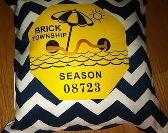ON SALE Brick Beach Badge Pillow
