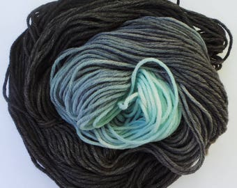 Jet Ombre: Hand dyed Baby Aplaca Merino Blend DK 50g