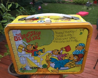 Berenstain Bears 1983 Lunch Box Vintage Tin Lunchbox Collectible Metal Lunch Pail