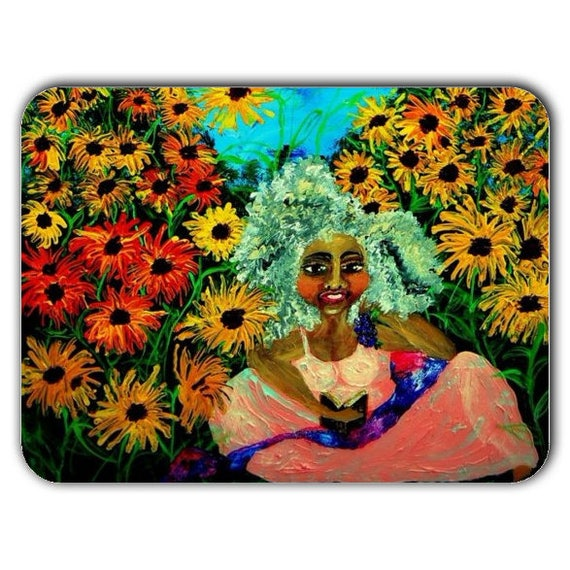 """Reproduction of SUNDAY BRUNCH on a 15.75"""" x 11.81"""" Tempered Textured Chinchilla Finish GLASS Cutting Board"""