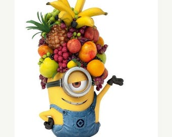 "minion fruit head Cross Stitch minion Pattern needlework needlepoint needlecraft Kräiz Stitch korss - 7.50"" x 11.79"" - L872"