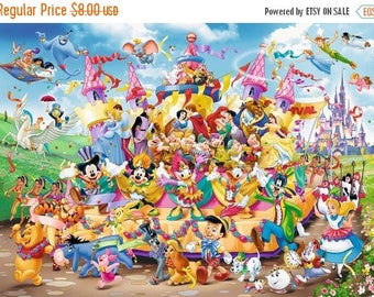 "disney carnival Counted Cross Stitch disney carnival Pattern דפוס תפר צלב вышивки крестом クロスステッチ - 31.50"" x 22.36"" - L710"