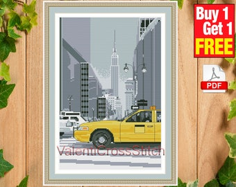New York Cross Stitch Pattern, City, Town, Cross Stitch, Pattern, Patterns, Chart, New York, #sp 180