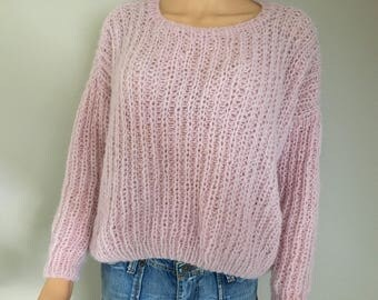 """""""Candy"""" alpaca and silk slouchy sweater"""