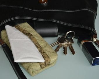 Green purse handkerchief case