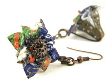Origami earring haruka ( flower )
