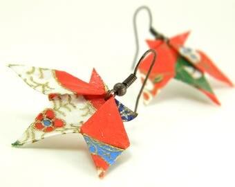 Origami earring sweetgum