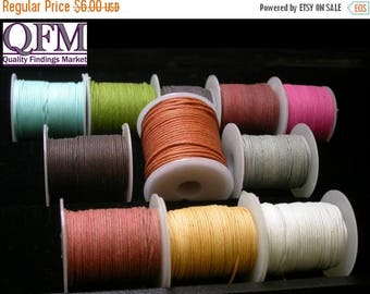 ON SALE 50 meters (2 spools 25 meters per spool) of 2.5 or 3mm Cotton cord Multi purpose - cotton cord