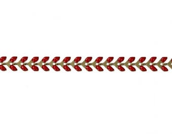0.5 m chain spike chevron gold and Red