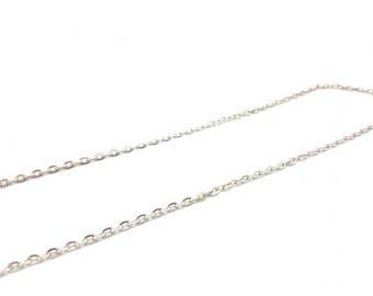 5 m chain link 4x3mm silver grey