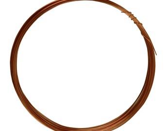 25' Round Dead Soft Copper Wire 24 Gauge Jewelry Making Craft Wire - WIR-650.24
