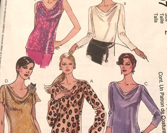 Great Pattern for Cowl Neck Shirts----McCalls 3397---Size Large-Xtra Large (16-22)  Bust 38-44 UNCUT