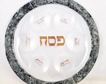 Silver Dust Seder Plate