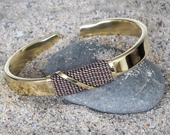 Men's Brass Bangle Bracelet - Women's Brass Bangle Bracelet - Men's Cuff Bracelet - Brass Cuff - Brass Bracelet - Brass Bangle