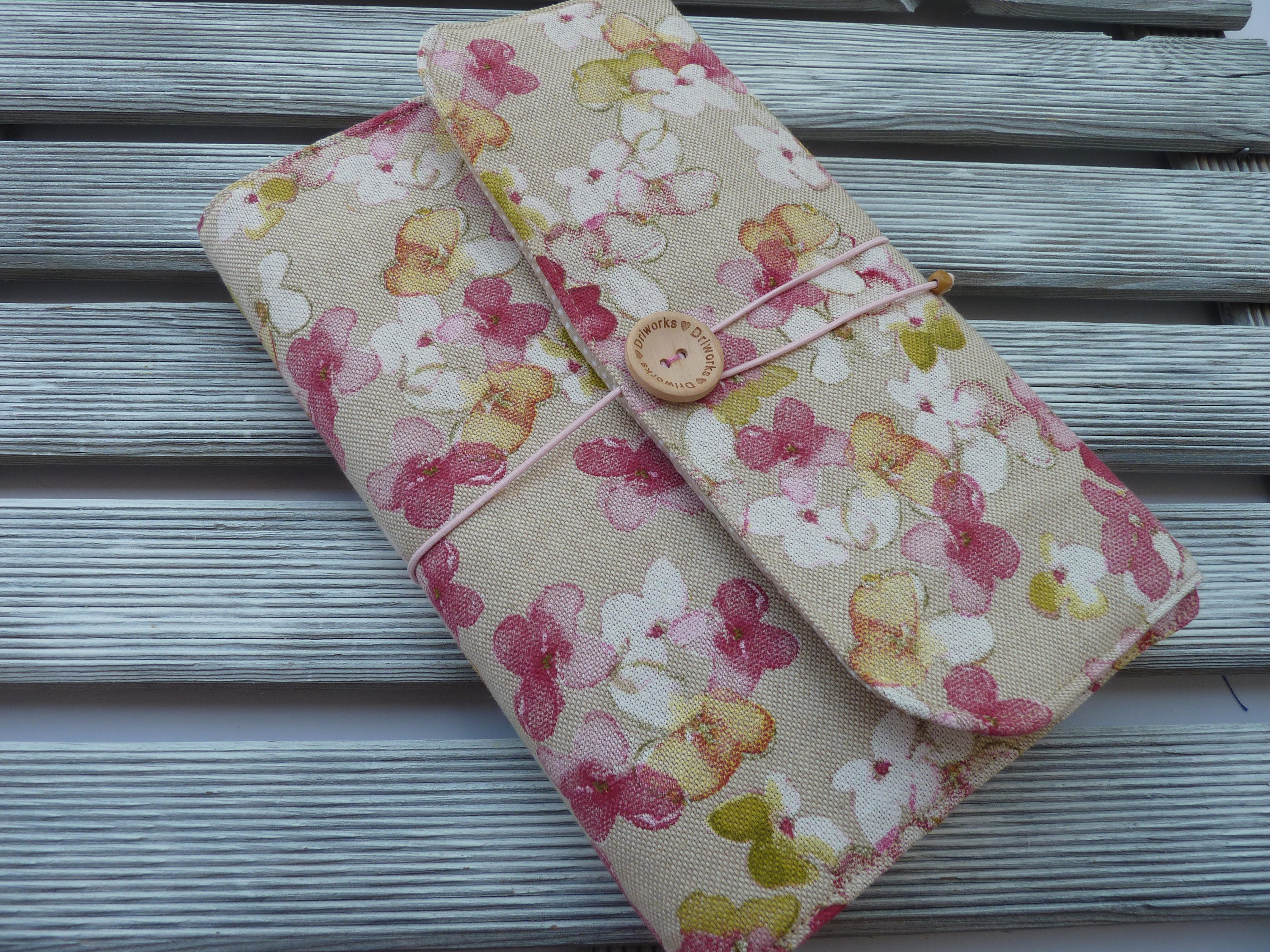 Adjustable Fabric Book Cover : Floral book sleeve fabric cover adjustable