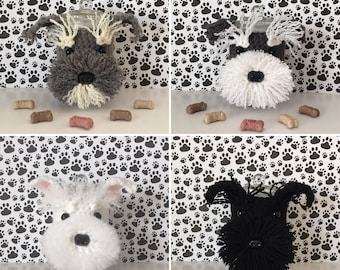 Miniature Schnauzer - Mini Schnauzer - Dog Treat Jar - Schnauzer Rescue - I Love Schnauzers - Schnauzer Christmas - Crazy dog Lady - Fur Kid