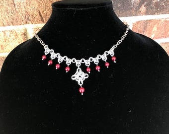 Byzantine Diamond Chainmaille Necklace