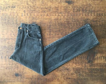 SUMMER SALE Vintage Wranglers, High Waist Faded Black- Tight and Flattering- Broken In 29x32