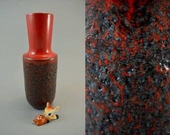 Vintage vase / Steuler / 142 25 / Fat Lava | West Germany | WGP | 60s