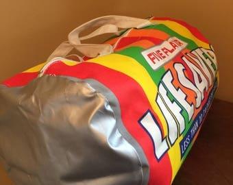 Vintage Lifesavers Duffle Bag/Vintage Candy Bag/Candy Lover Gift