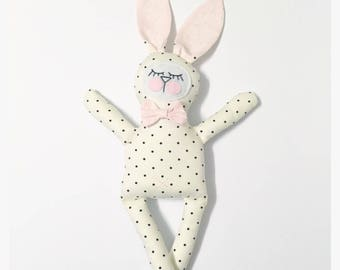 Margot the polka dot bunny plushie
